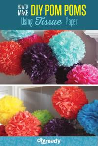 How to Make Tissue Paper Pom Poms DIY Projects Craft Ideas ...