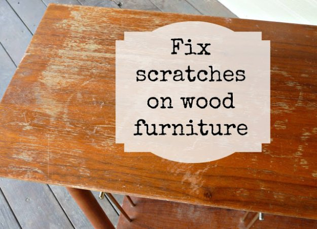How To Fix Scratches On Wood Furniture Diy Projects Craft