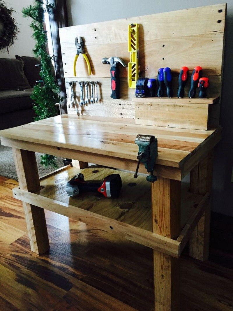 Kinder Werkbank Selber Bauen A Pallet Workbench For Future Builders! | Diy Projects For
