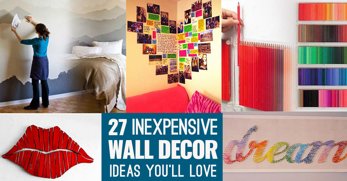 Cool, Cheap but Cool DIY Wall Art Ideas for Your Walls - artistic wall design