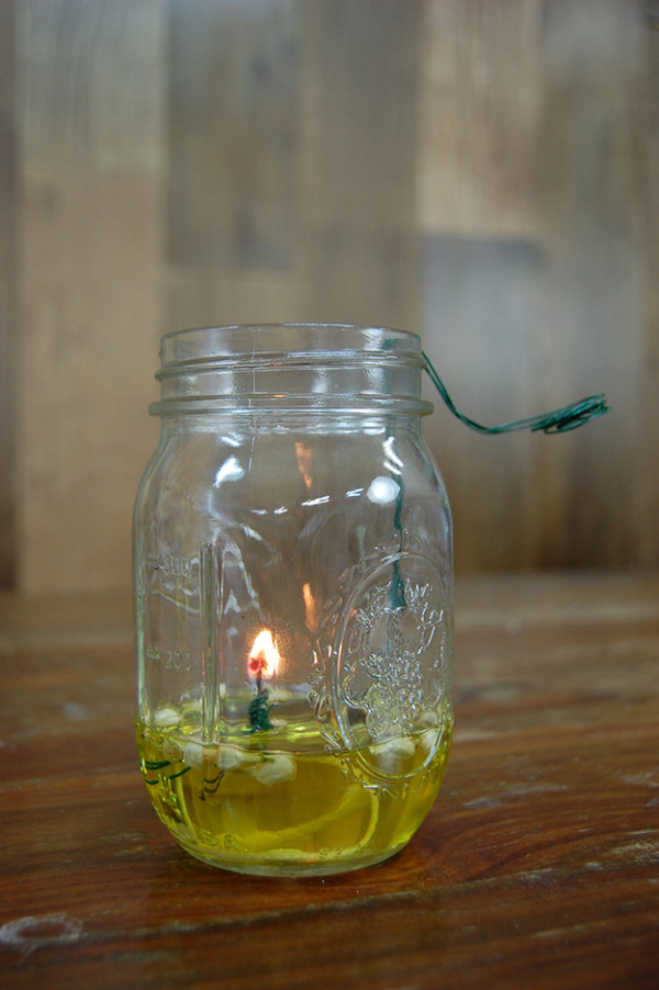 homemade oil lamp