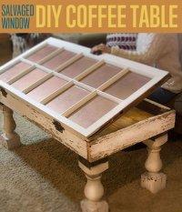 Salvaged Window DIY Coffee Table | Unique Coffee Tables ...