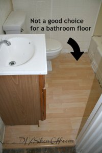 How to tile a bathroom floorDIY Show Off   DIY ...