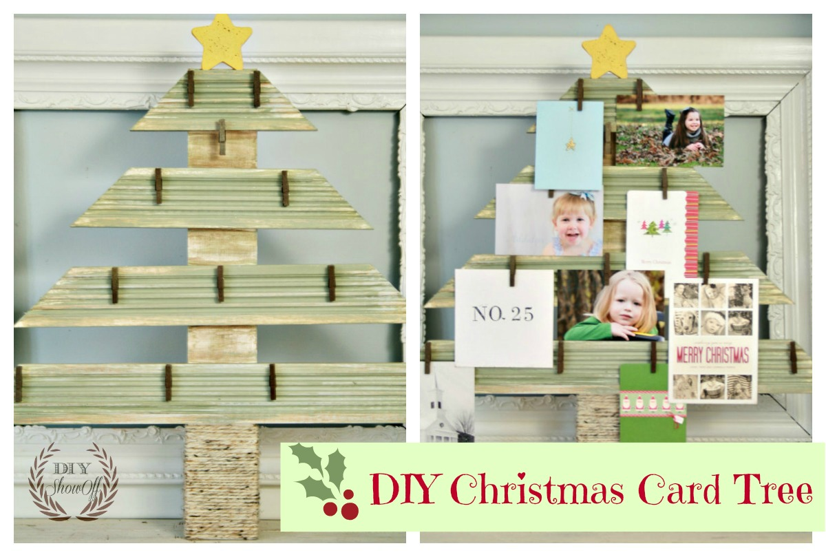 Frantic Diy Card Tree Diy Card Show Off Diy Decorating Card Her Ideas Card Hers Free Standing cards Christmas Card Holder