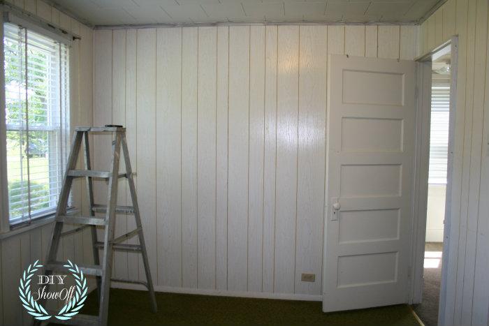 Painted Stenciled Paneled Walls