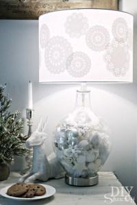 Winter Wonderland Lamp MakeoverDIY Show Off   DIY