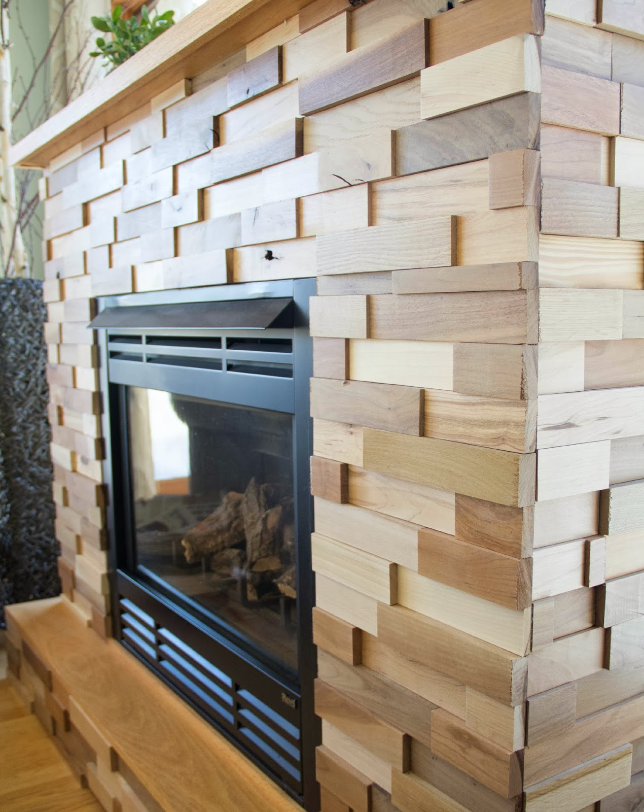 Cover Brick Fireplace With Wood Panels That Diy Party Diy Show Off Diy Decorating And Home