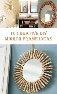 16 Creative DIY Mirror Frame Ideas  Diys To Do