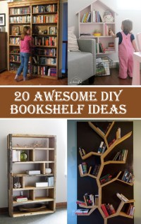 20 Awesome DIY Bookshelf Ideas  Diys To Do