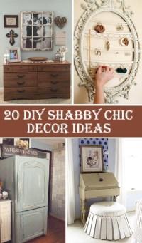 20 DIY Shabby Chic Decor Ideas  Diys To Do