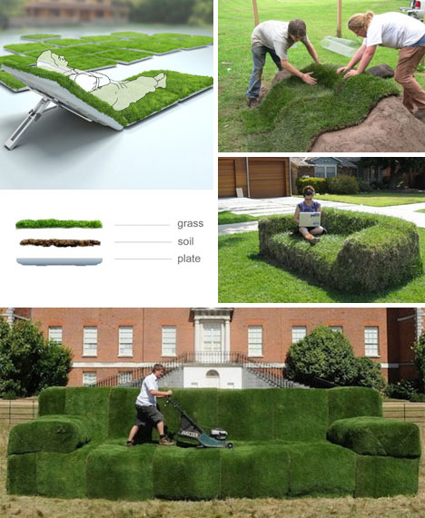 How To Make Diy Real Green Grass Lawn Lounger Sod Sofas | Diy Tag