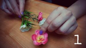 1. DIY faux flower crown headband flower w hole TMD
