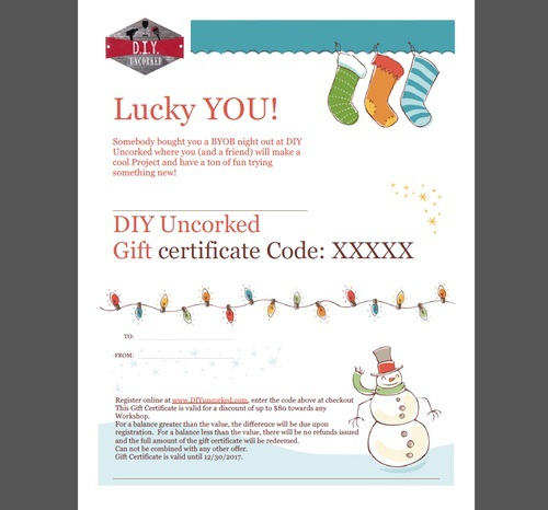 diy gift certificates diy uncorked do it yourself uncorked best