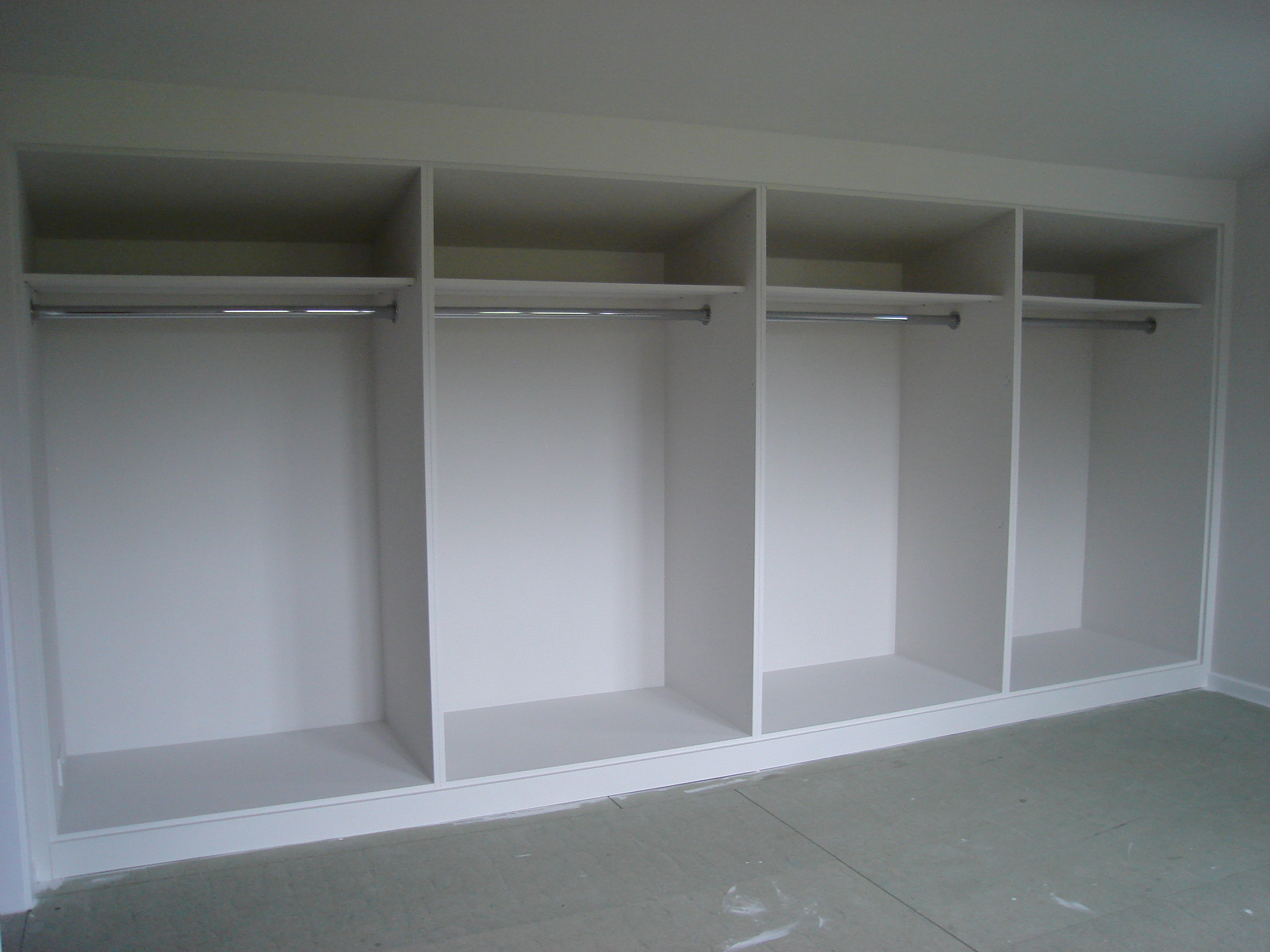 Build In Wardrobe White Painted Mdf Built In Wardrobes With Frame And Panel