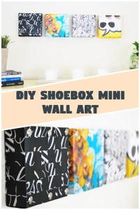 DIY Shoebox Mini Wall Art - DIY Magazine