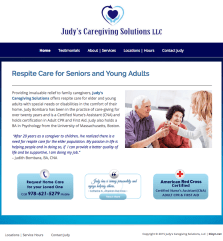 Judy's Caregiving Solutions Website