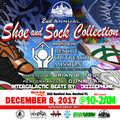 2nd Annual Shoe  Sock Drive Dizzlephunk
