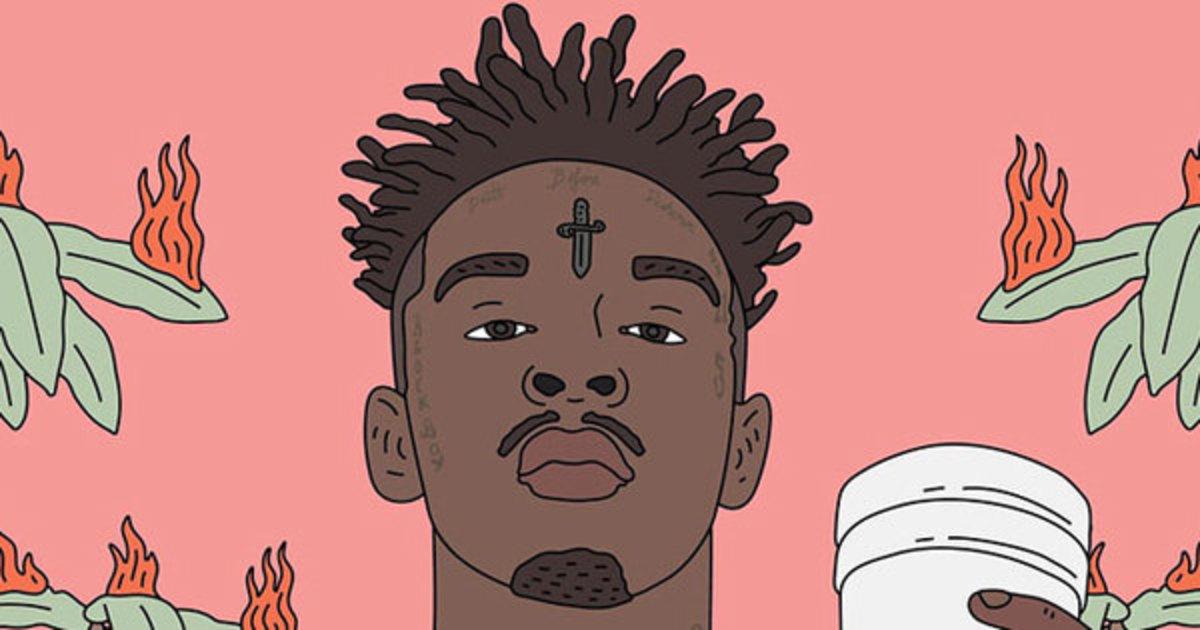 Pink Girl Cartoon Wallpaper 21 Savage Issa Album Review Djbooth
