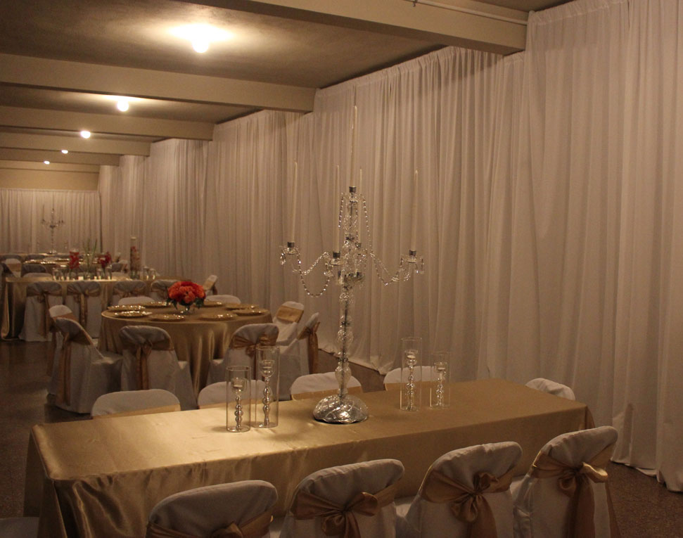 Pipe & Drape services for your event, Venue Decorations - DJCain