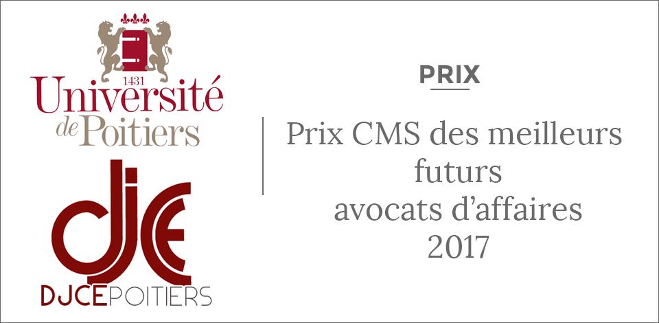 Prix DJCE CMS Bureau Francis Lefebvre Diplme de Juriste Conseil