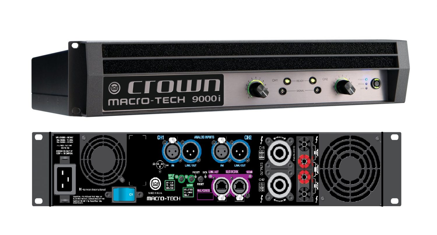 Crown Amplifiers Crown Audio Ma9000i 2 Channel 3500w Power Amplifier Free Shipping