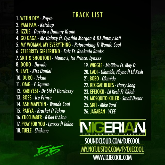 NAIJA @ 55 mixtape - tracklist
