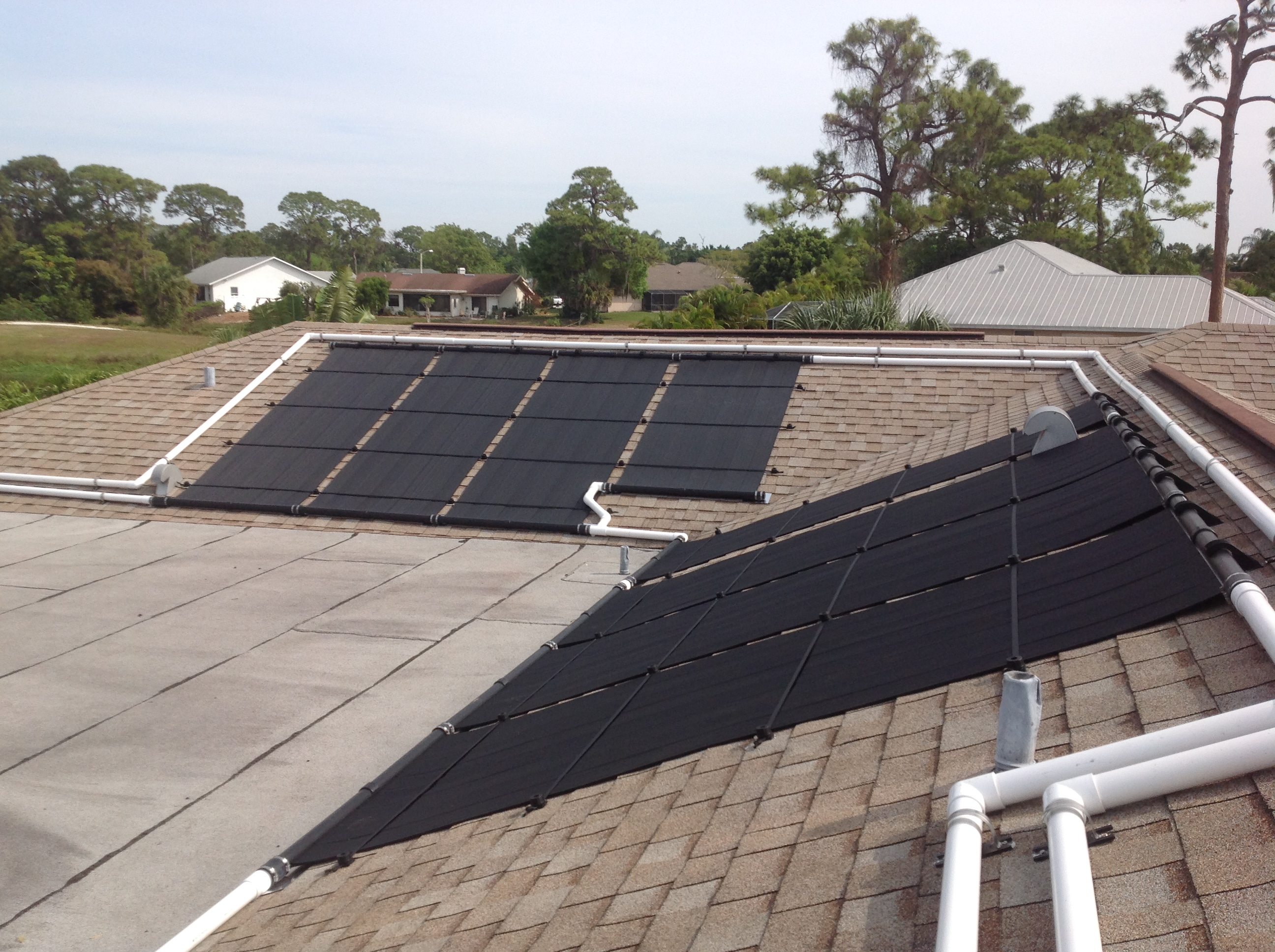Solar Pool Heating With Roof Obstructions And Vents