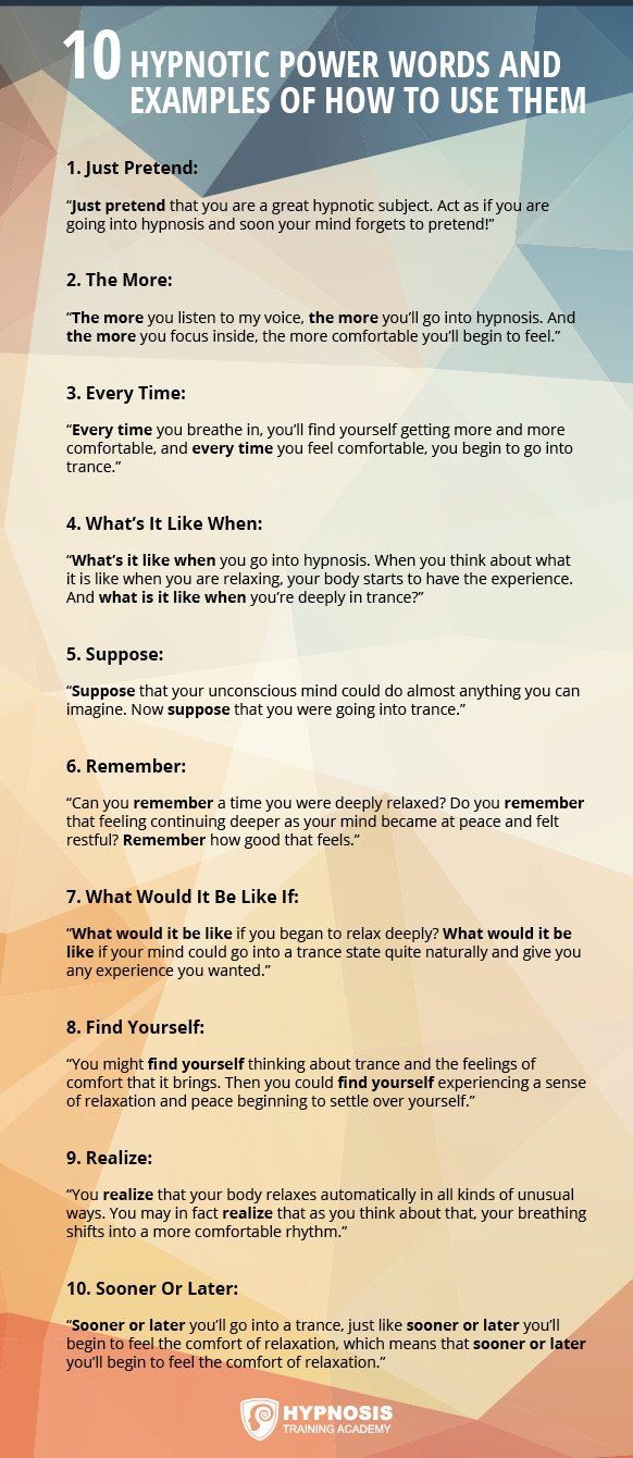 15 Highly Effective Hypnotic Power Words To Influence Others