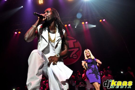Mavado and Nicki Minaj in concert
