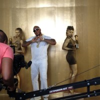 BTS: Lady Saw featuring Flo Rida Heels On Music Video Shoot