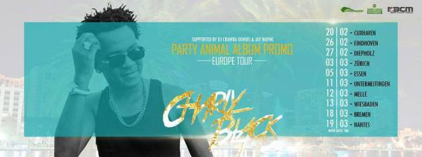 Charly Black Europe Party Animal Promo tour in Germany, Holland and France