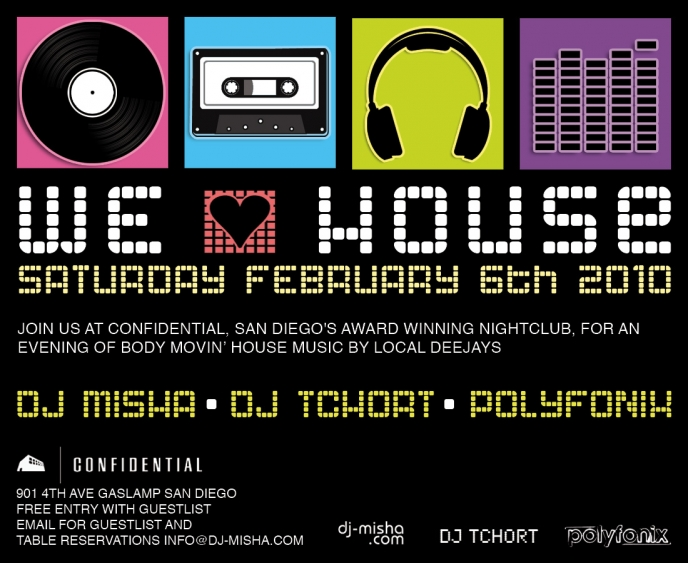 House Music Event Flyer Designs and Recent Events for DJ Misha » San