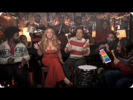 """Jimmy Fallon, Mariah Carey & The Roots Perform """"All I Want For Christmas Is You"""""""