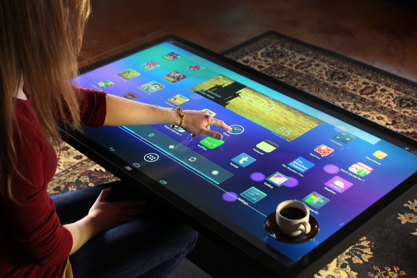 "Tisch Pc Ideum's 46"" Multitouch Coffee Table 