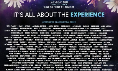 EDC Vegas - lineup artwork