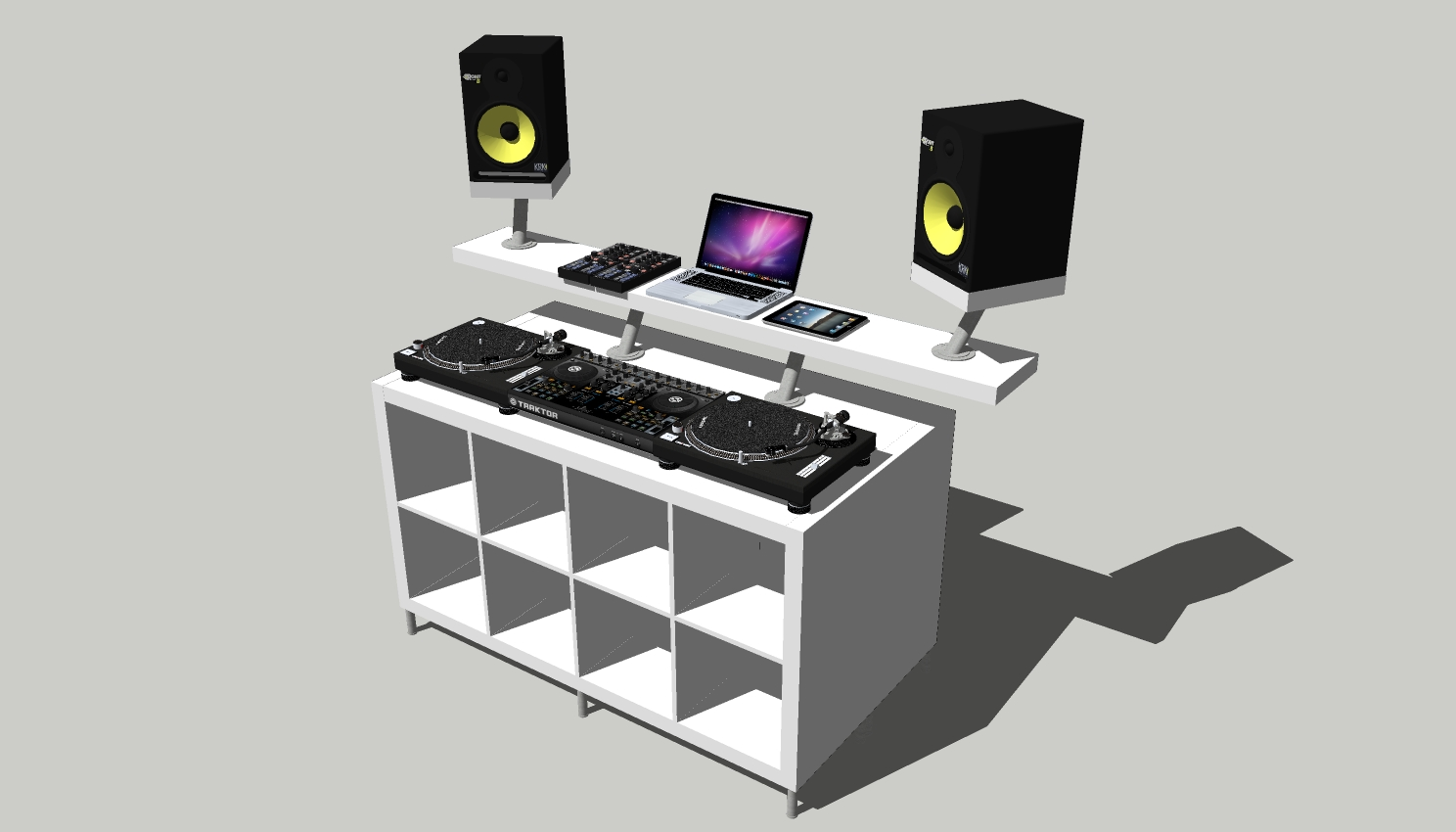 Mueble Dj Ikea How To Create A Professional Dj Booth From Ikea Parts