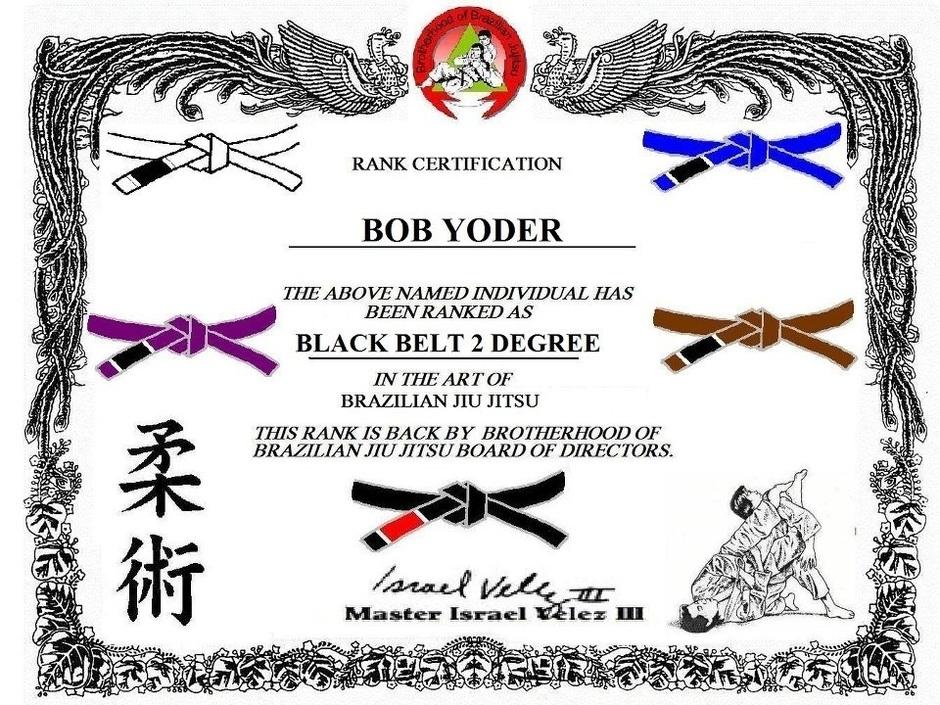 Bob_Yoder_2nd_Degree_Black_Beltjpg (940×705) DIY and crafts - diploma word template