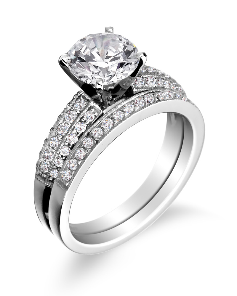 engagement rings wedding bands cheap diamond wedding bands Engagement ring with wedding band