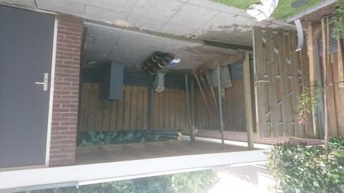 De vorderingen tijdens de bouw