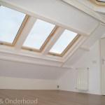 Zolder met aan beide kanten 3 nieuw dakramen