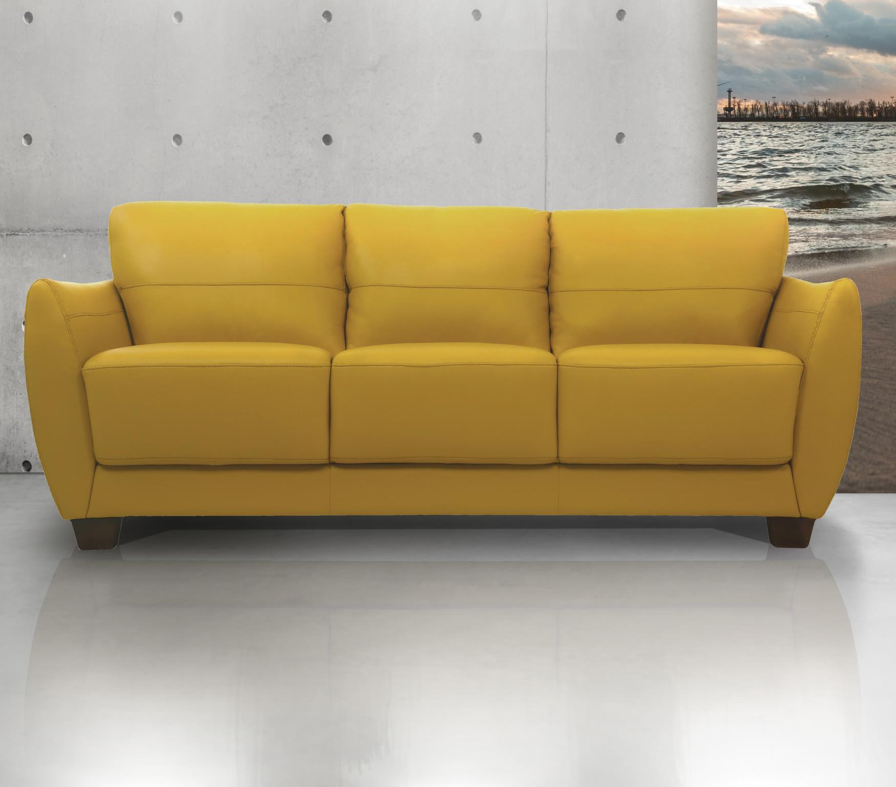 Valeria Contemporary Leather Sofa