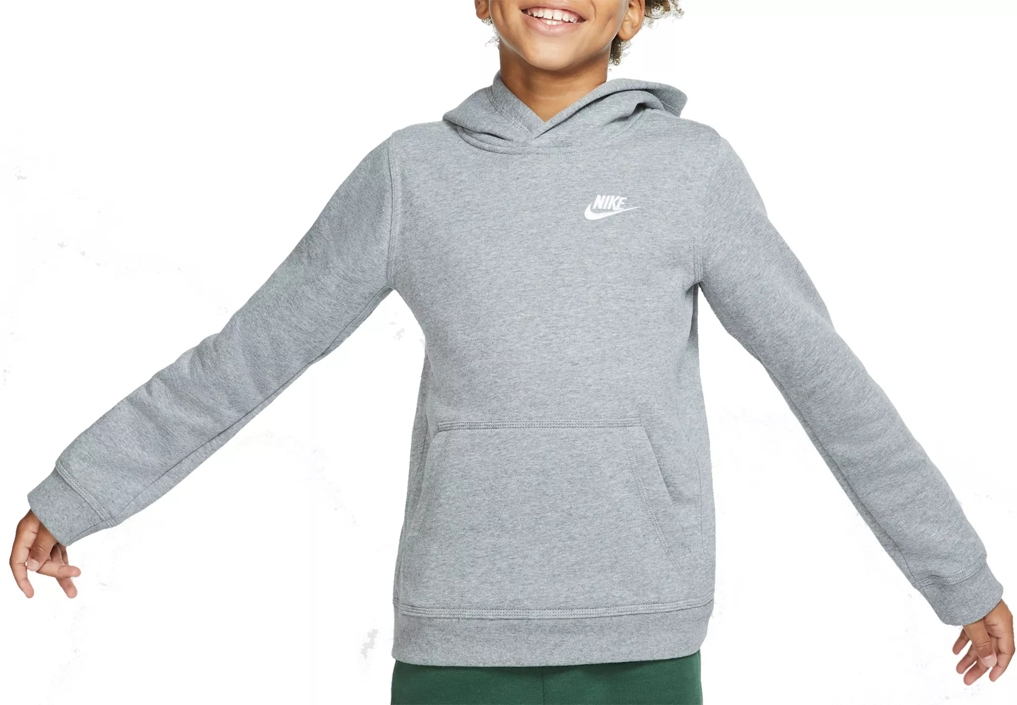 Nike Hoodie Carbon Heather Nike Boys Sportswear Club Cotton Hoodie
