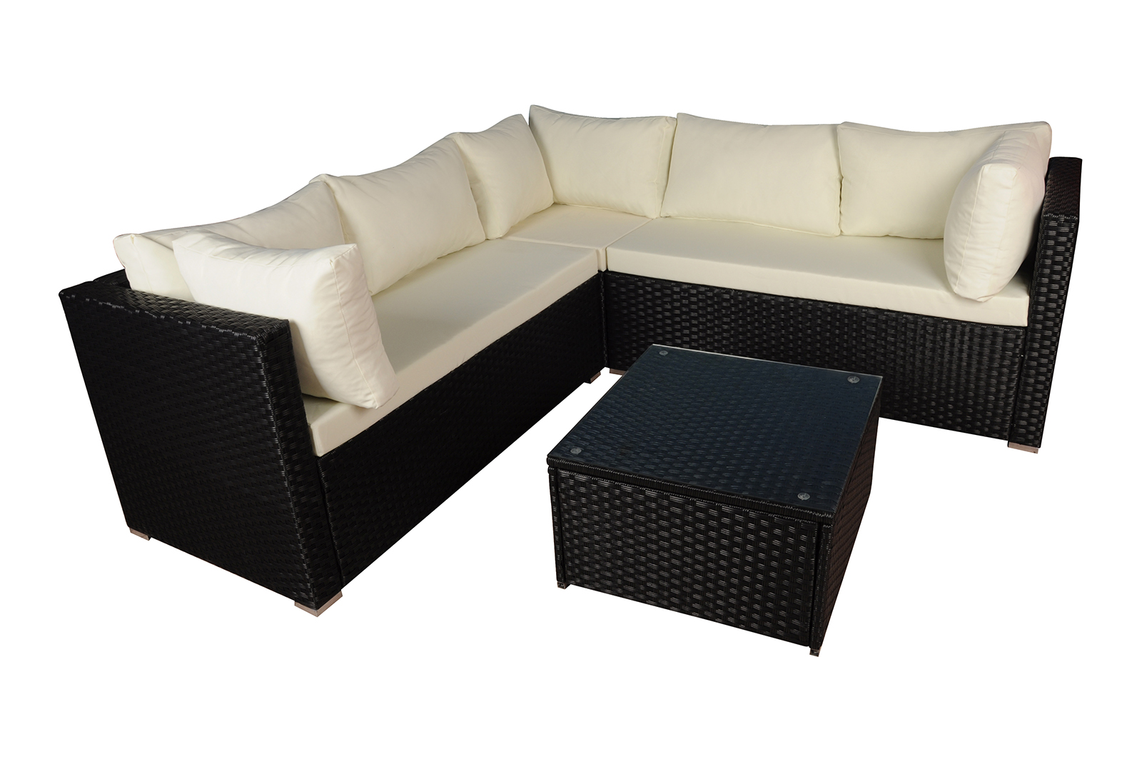 Rattan Sofa Instructions Modern Outdoor Garden Sectional Set Wicker Sofa Set W
