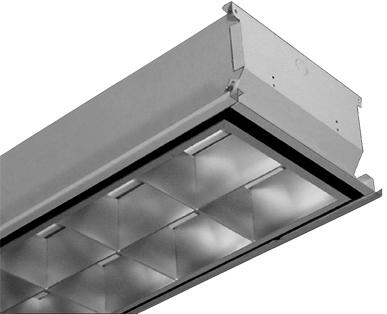 ETL Listed LED Tube Parabolic Louver Light Fixture, Recessed T Bar