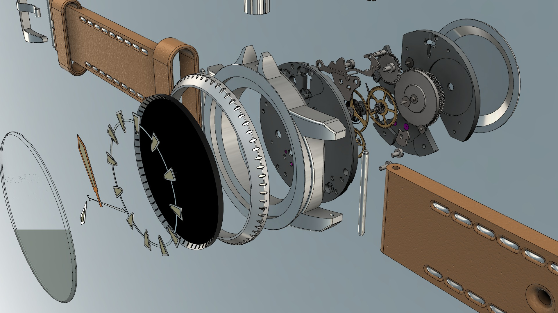 3d Modeling Wallpaper Solidworks Custom Dive Watch Design With Movement Autodesk Online