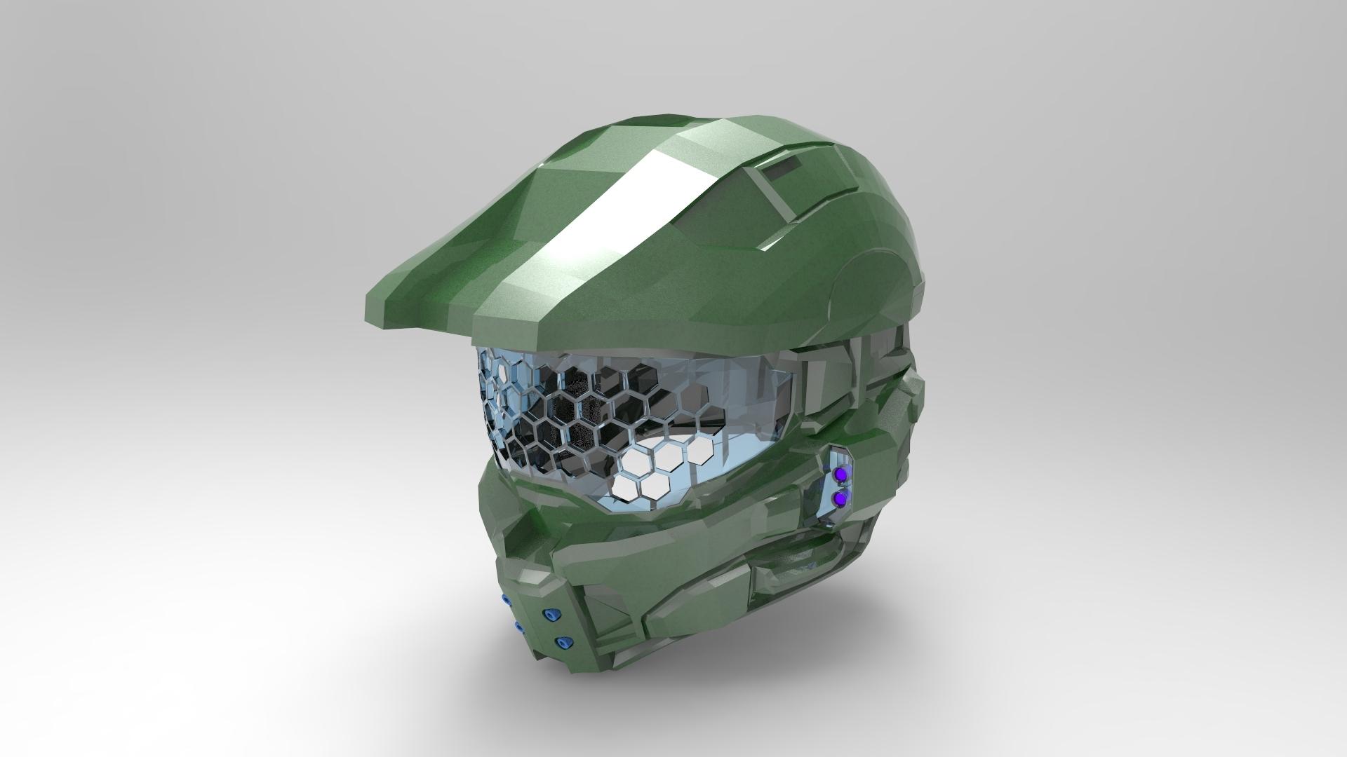 3d Curved Wallpaper Halo 4 Helmet Keyshot Render Autodesk Online Gallery