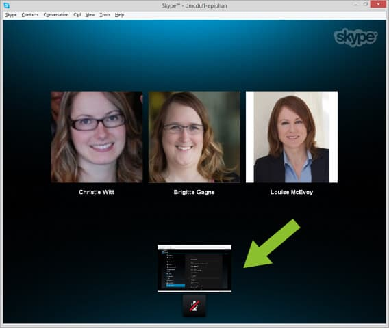 Share an Android Tablet during a Skype Video Call
