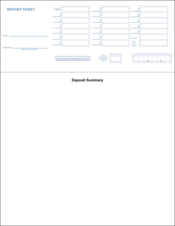 Printable QuickBooks Deposit Slips