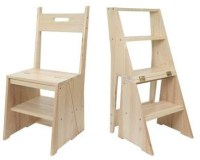 Wooden Wood Step Stool Ladder Chair PDF Plans