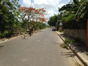 A view as we were walking at the end of one of the streets in Santiago, Dominican Republic.